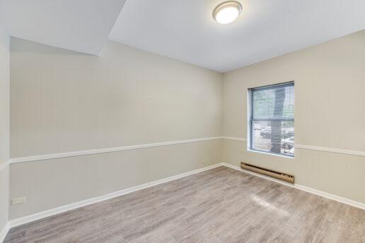 living area facing window
